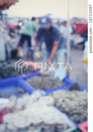 Blurred of asia market 18752097
