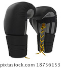 Lacing leather boxing gloves 18756153