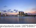 Singapore city skyline at night 18756667