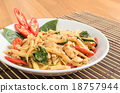 Stir fried spicy chicken with bamboo shoots 18757944