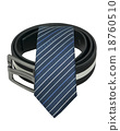 Tie and men belt isolated on white background 18760510