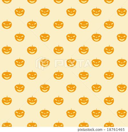 Seamless halloween cute pumpkin pattern 18761465