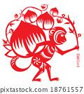 Year of Monkey illustration 18761557