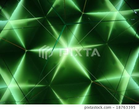 Kaleidoscope pattern green 4 18763395