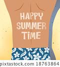 Man sunbathing happy summer time 18763864