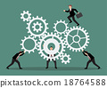 Business teamwork with mechanism system 18764588