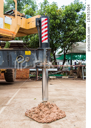 Stand crane use for prevent operate the crane 18765304