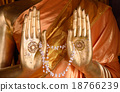 Hands of Buddha with Jasmine flowers 18766239