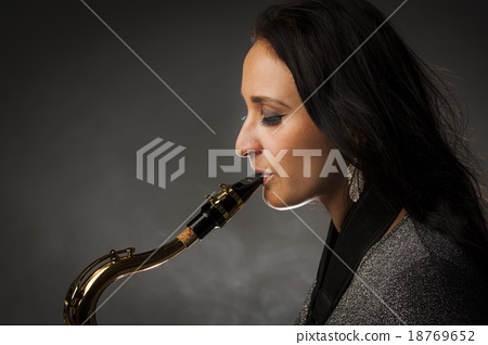Beautiful Sax Player 18769652
