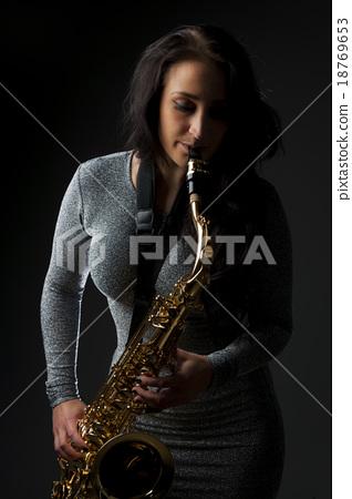 Beautiful Sax Player 18769653
