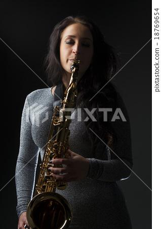 Beautiful Sax Player 18769654