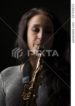 Beautiful Sax Player 18769655