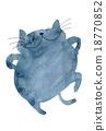 cat, neko, dancing 18770852