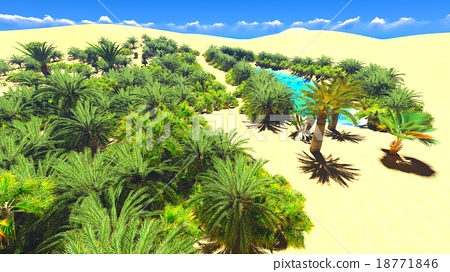 African oasis on Sahara 18771846