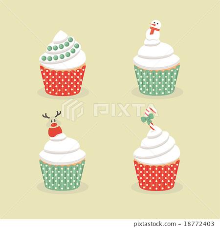 christmas cakes set 18772403