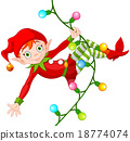 Christmas Elf on Garland 18774074