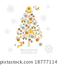 Wonderful christmastree with snowflakes 18777114