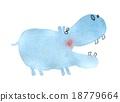 birch, hippopotamus, animal 18779664