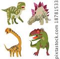 劍龍 恐龍 古代生物 18781533