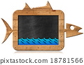 Blackboard Fish Shaped - Seafood Menu 18781566