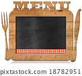 Blackboard with Text Menu and Cutlery 18782951