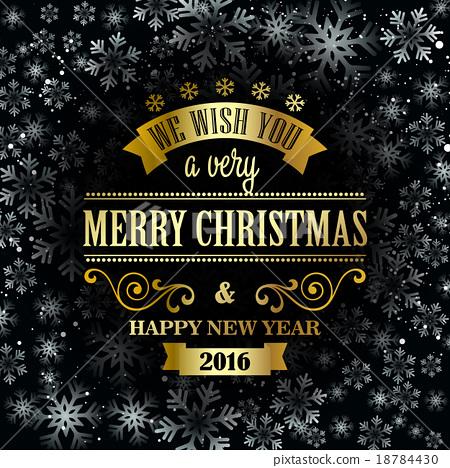 Typographic Retro Christmas Design 18784430