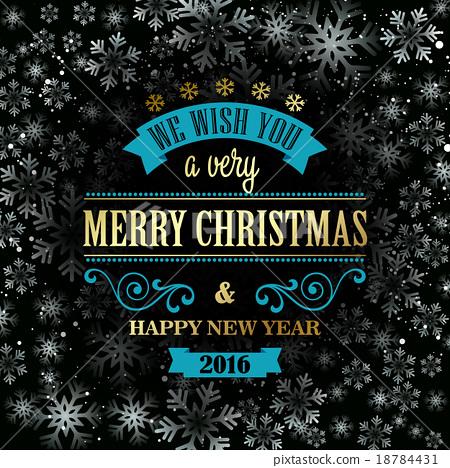 Typographic Retro Christmas Design 18784431
