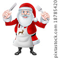 Santa Holding Knife and Fork 18785420