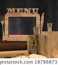 Blackboard Menu in the Kitchen 18786873