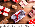 Christmas presents on a table 18787715