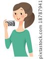 카메라, 여성, 여자 18787941