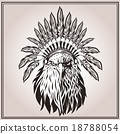 American Eagle ethnic Indian headdress feathers 18788054