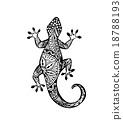 Vector of Gecko lizard in zentangle style  18788193