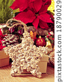 christmas star surrounded by christmas ornaments 18790029