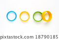 Colorful fashion bracelets on white background. 18790185