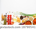 Spices and vegetable for healthy and cooking. 18790541