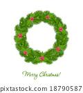 花环 圣诞节 圣诞 18790587