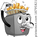 Deep Fryer Potato Mascot 18795821