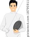 Man Fencing 18795911