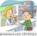 Senior Woman Pharmacy 18795923