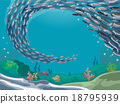 Fish School Underwater 18795939
