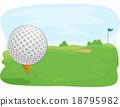 Golf Course Ball Close Up 18795982