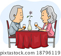 couple elderly restaurant 18796119