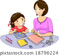 Mom Kid Book Making 18796224