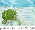 Turtle Swim Underwater 18796240