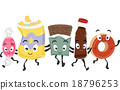 Junk Food Group Mascots 18796253
