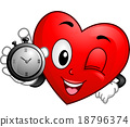 Heart Mascot Stopwatch 18796374