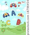 Alphabet Parachutes 18796454