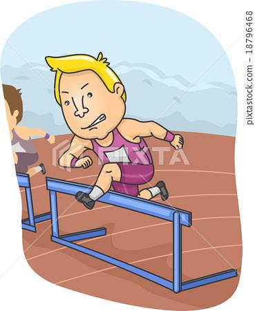 Man Run Hurdle 18796468