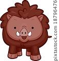 Wild Boar Front 18796476